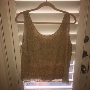Dana Buchman beaded top size 12
